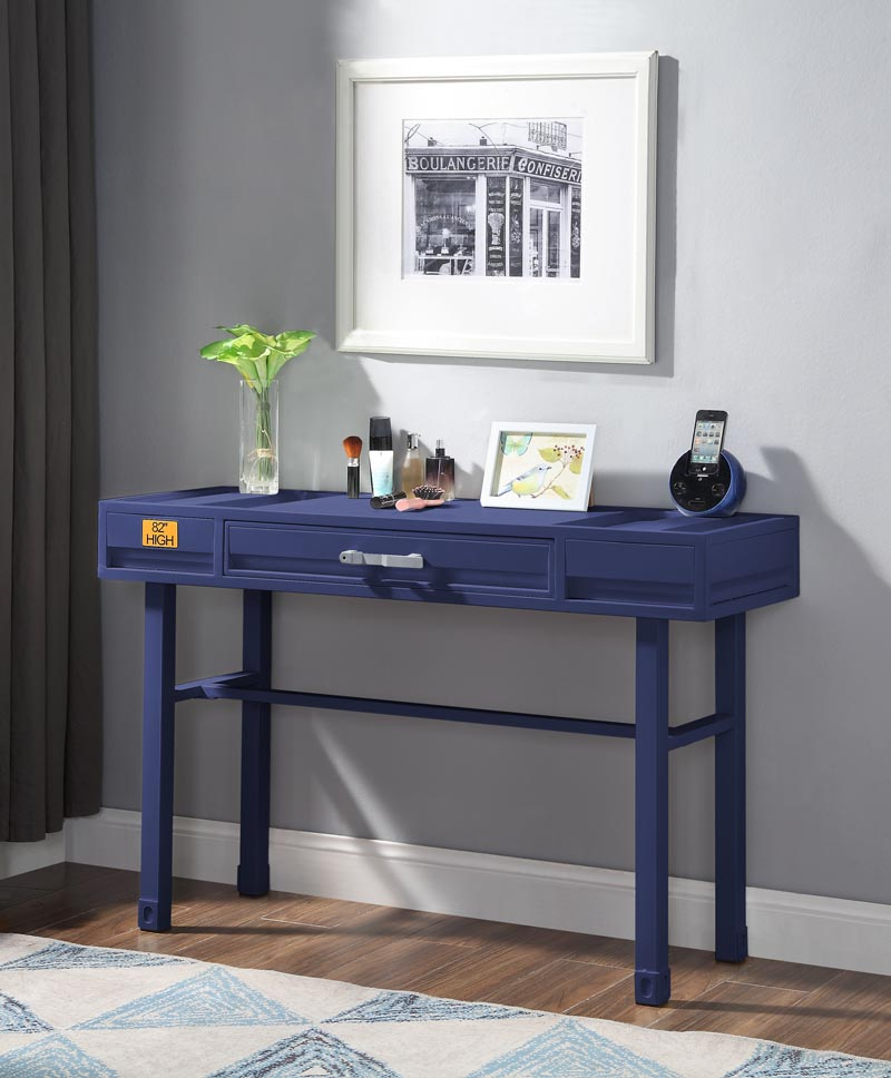 Cargo Blue Vanity Desk,Acme