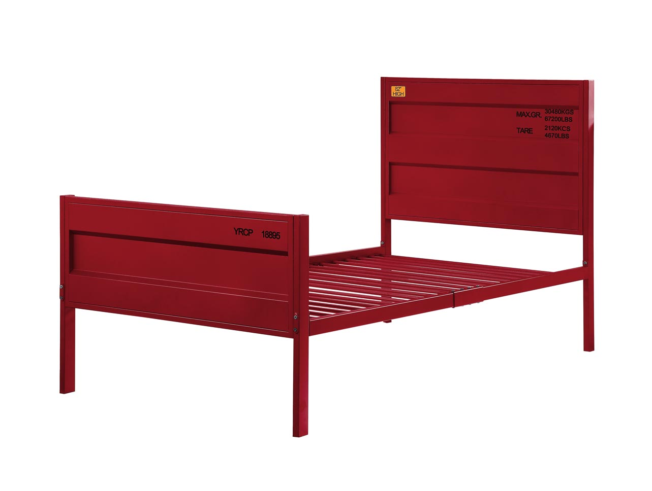 Cargo Red Twin Bed,Acme