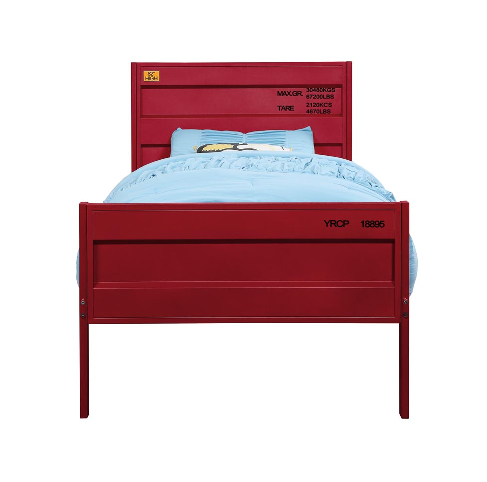 Cargo Red Full Bed,Acme