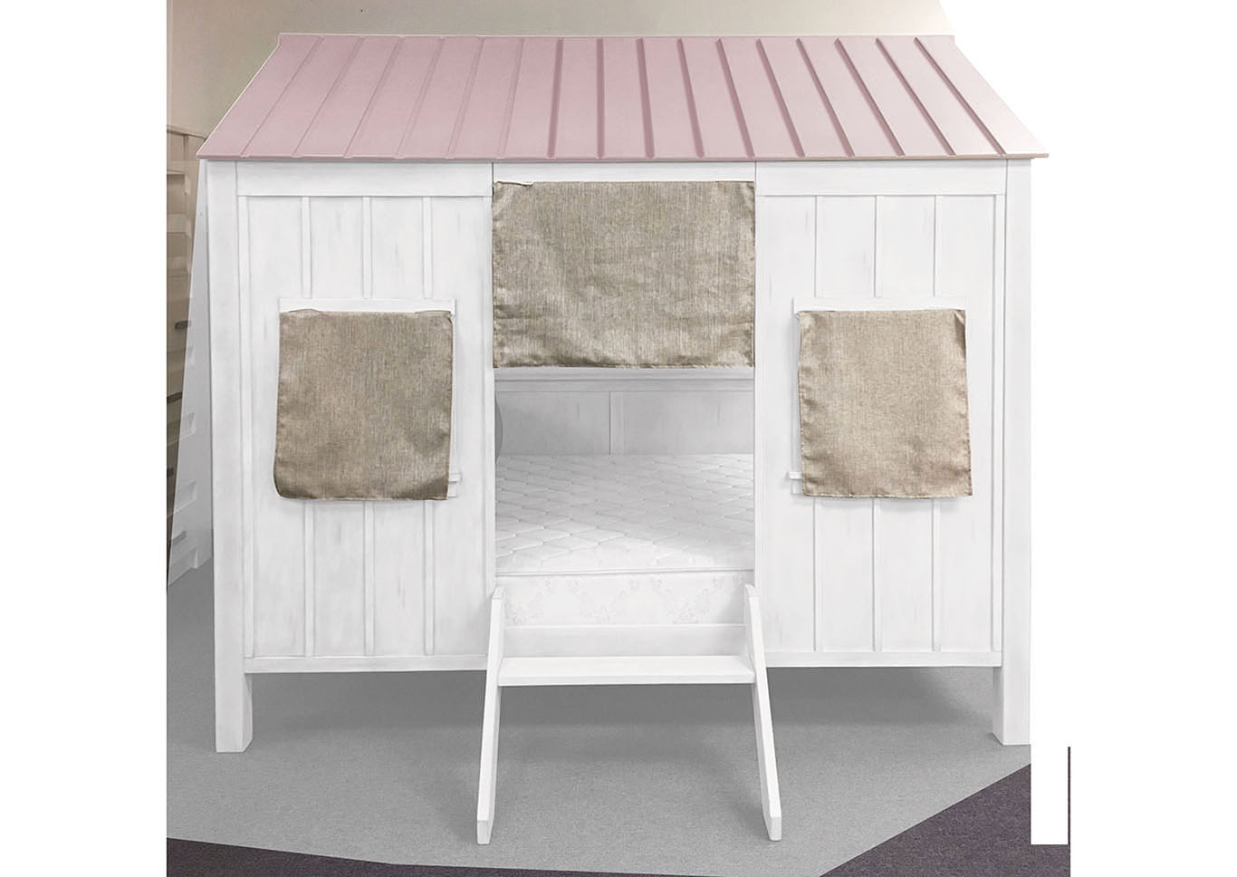 Spring Cottage White/Pink Full Bed,Acme