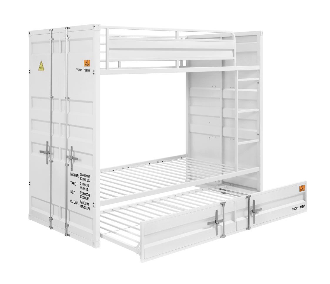 Cargo White Twin/Twin Bunk Bed,Acme