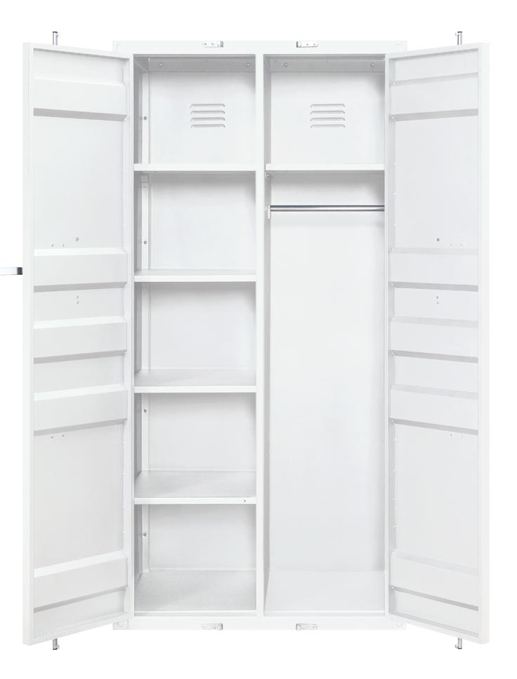 Cargo White Wardrobe (Double Door),Acme