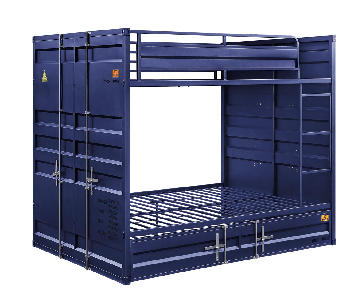Cargo Blue Full/Full Bunk Bed,Acme