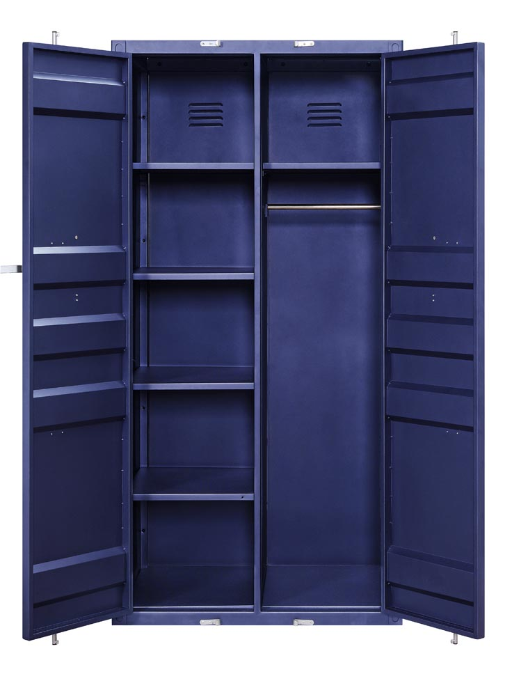 Cargo Blue Wardrobe (Double Door),Acme
