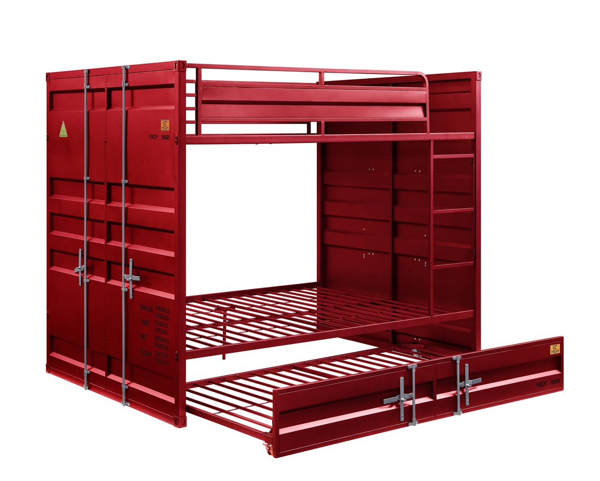 Cargo Red Full/Full Bunk Bed,Acme