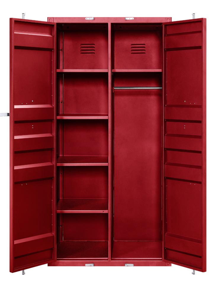 Cargo Red Wardrobe (Double Door),Acme