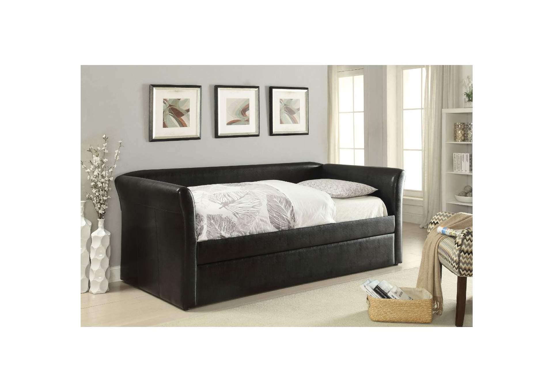 - Misthill Black Daybed W/Trundle Harlem Furniture