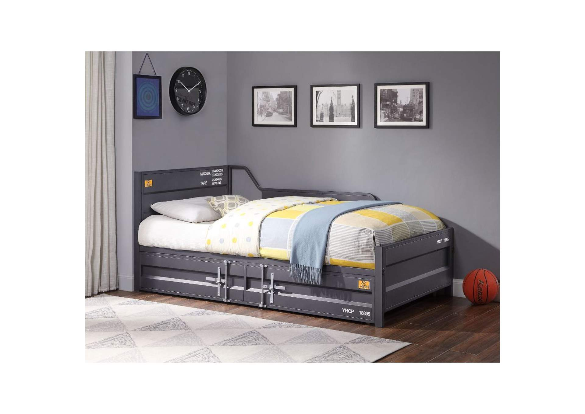 Cargo Gunmetal Twin Daybed and Trundle,Acme