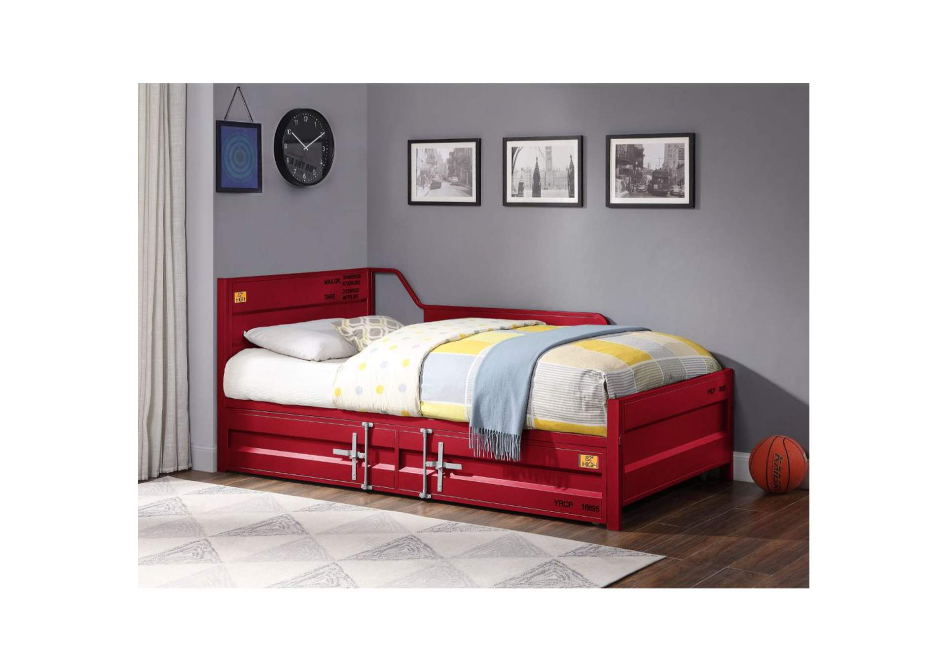 Cargo Red Twin Daybed and Trundle,Acme