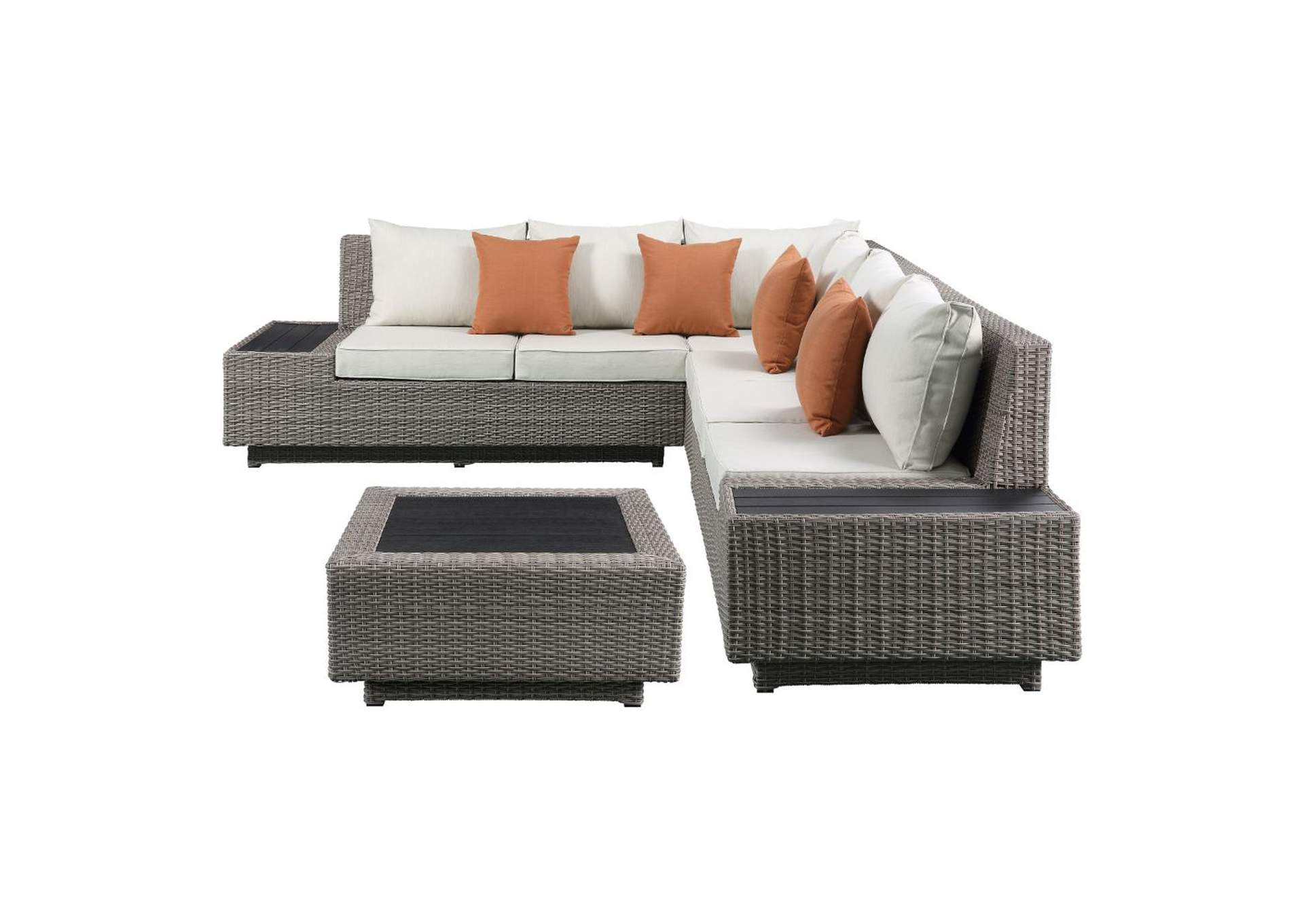 Salena Beige Sectional Sofa w/Cocktail Table,Acme