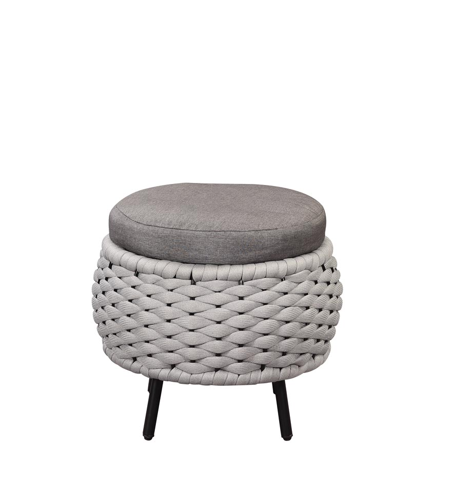 Egil Gray Patio Ottoman,Acme