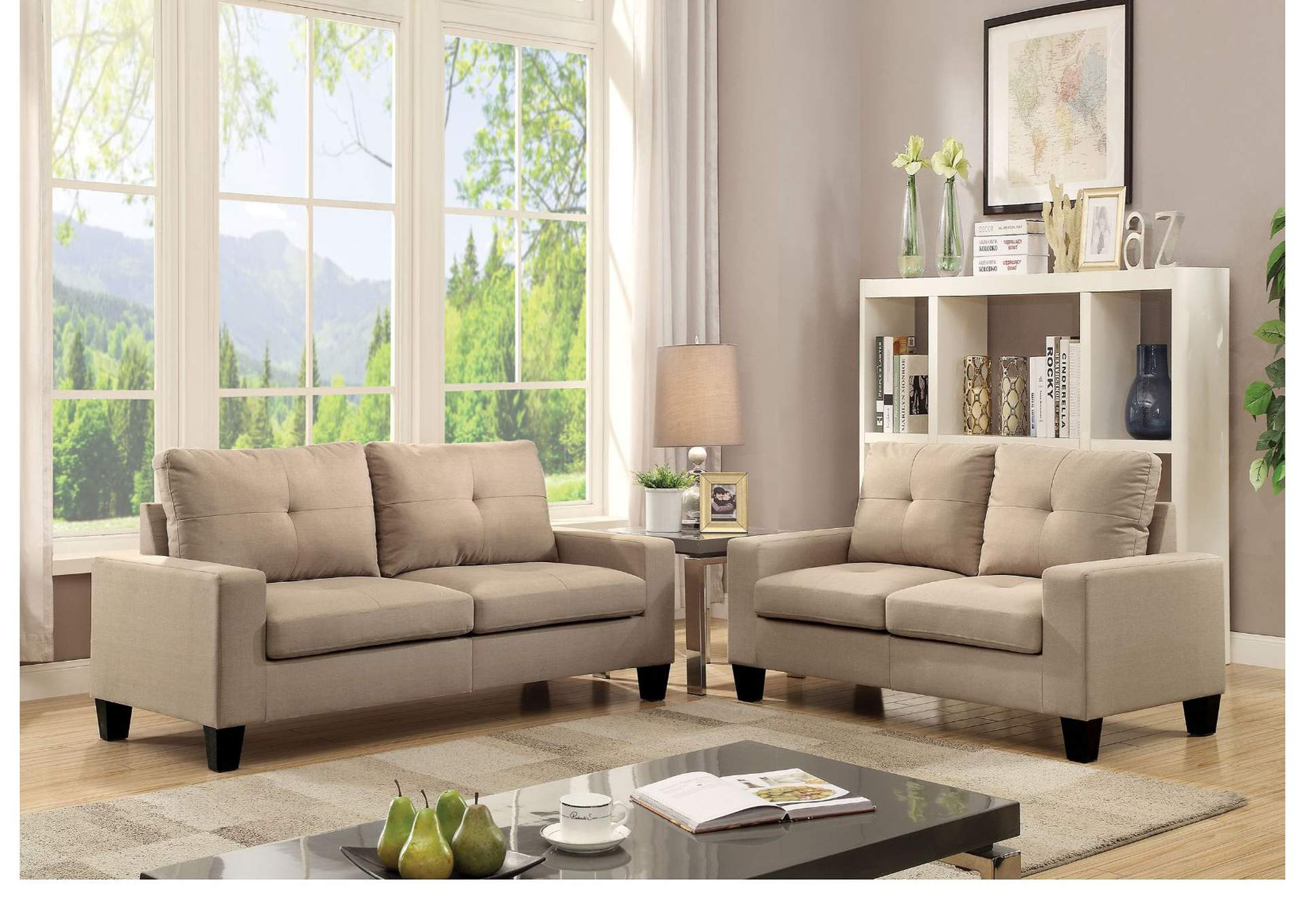 Pleasant Royal Furniture Gifts Platinum Ii Beige Linen Sofa Loveseat Interior Design Ideas Gentotryabchikinfo