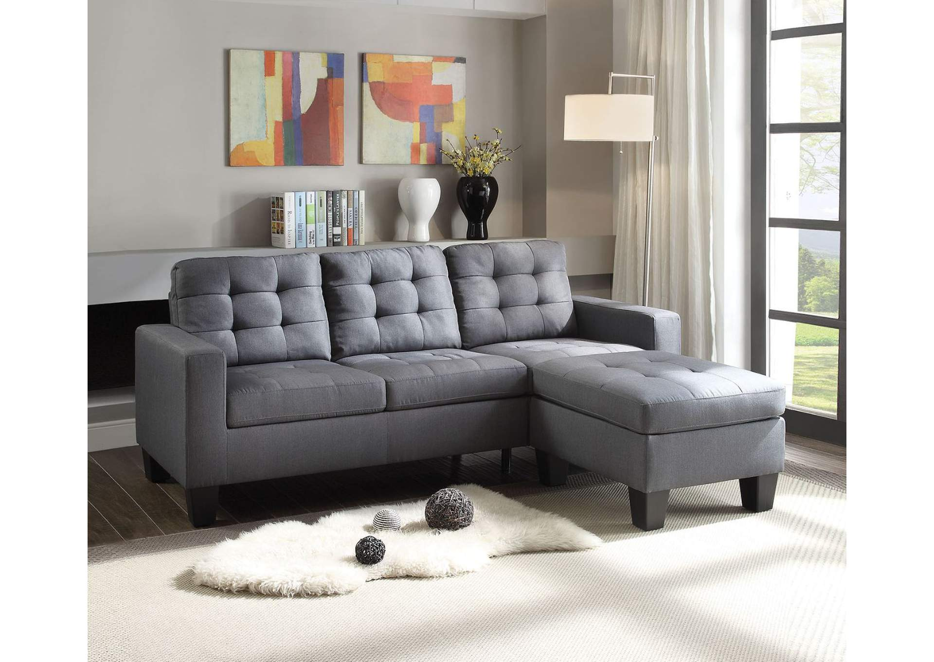 Peachy Best Buy Furniture And Mattress Earsom Gray Sectional Sofa Dailytribune Chair Design For Home Dailytribuneorg