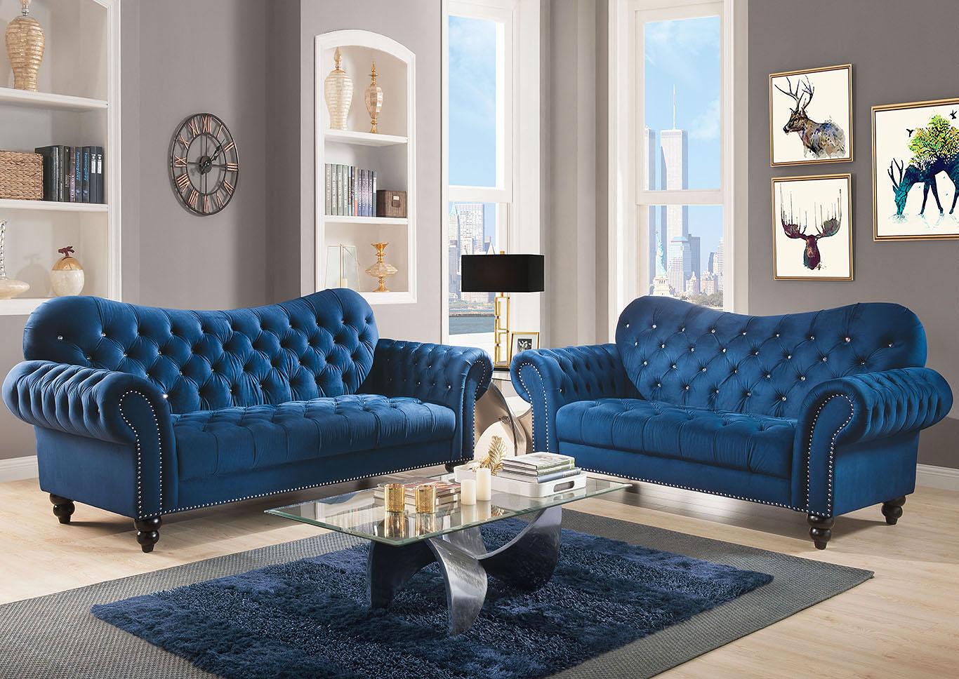 Goree\'s Furniture - Opelika, AL Iberis Navy Sofa