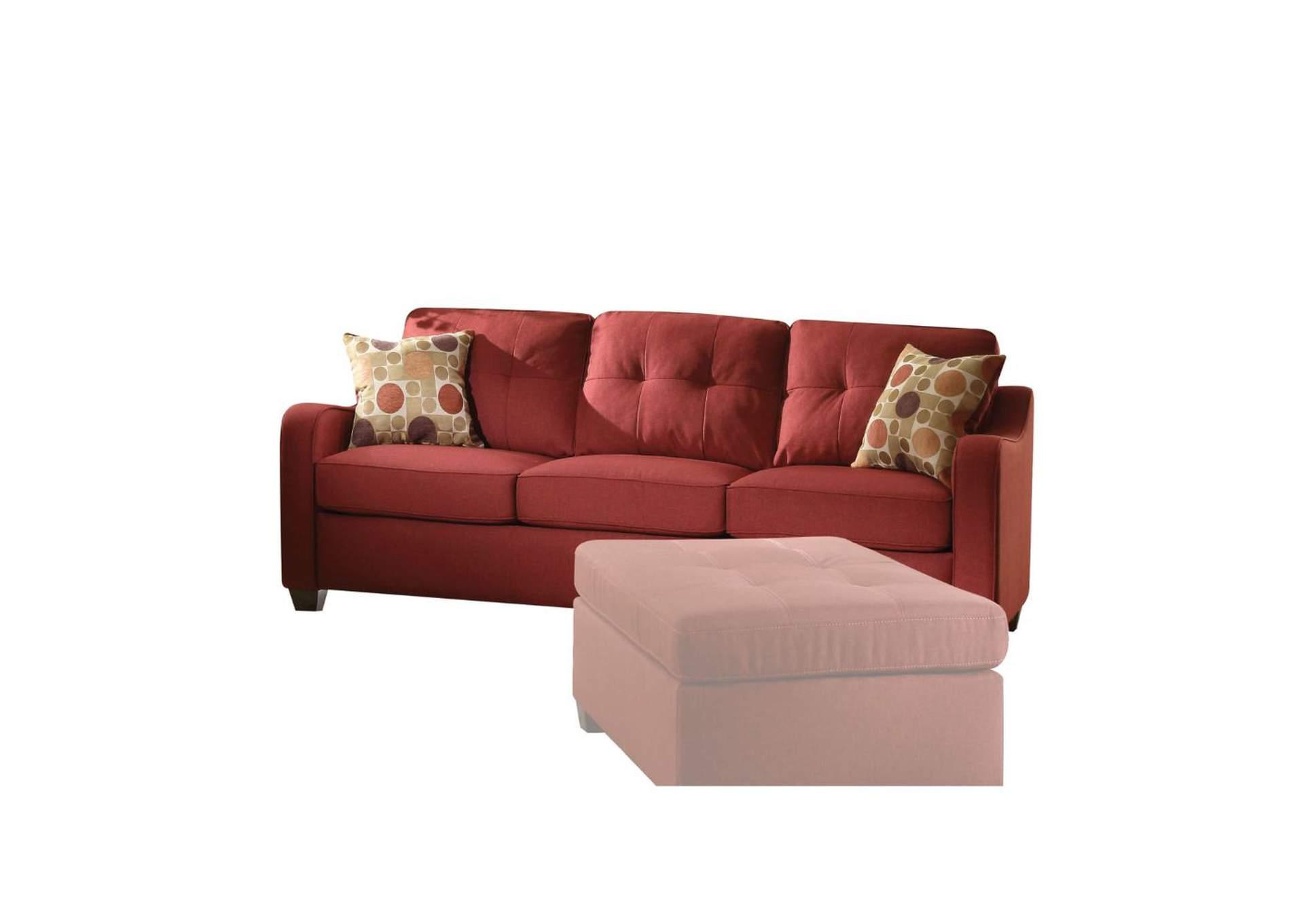Goree\'s Furniture - Opelika, AL Cleavon II Red Linen Sofa w ...