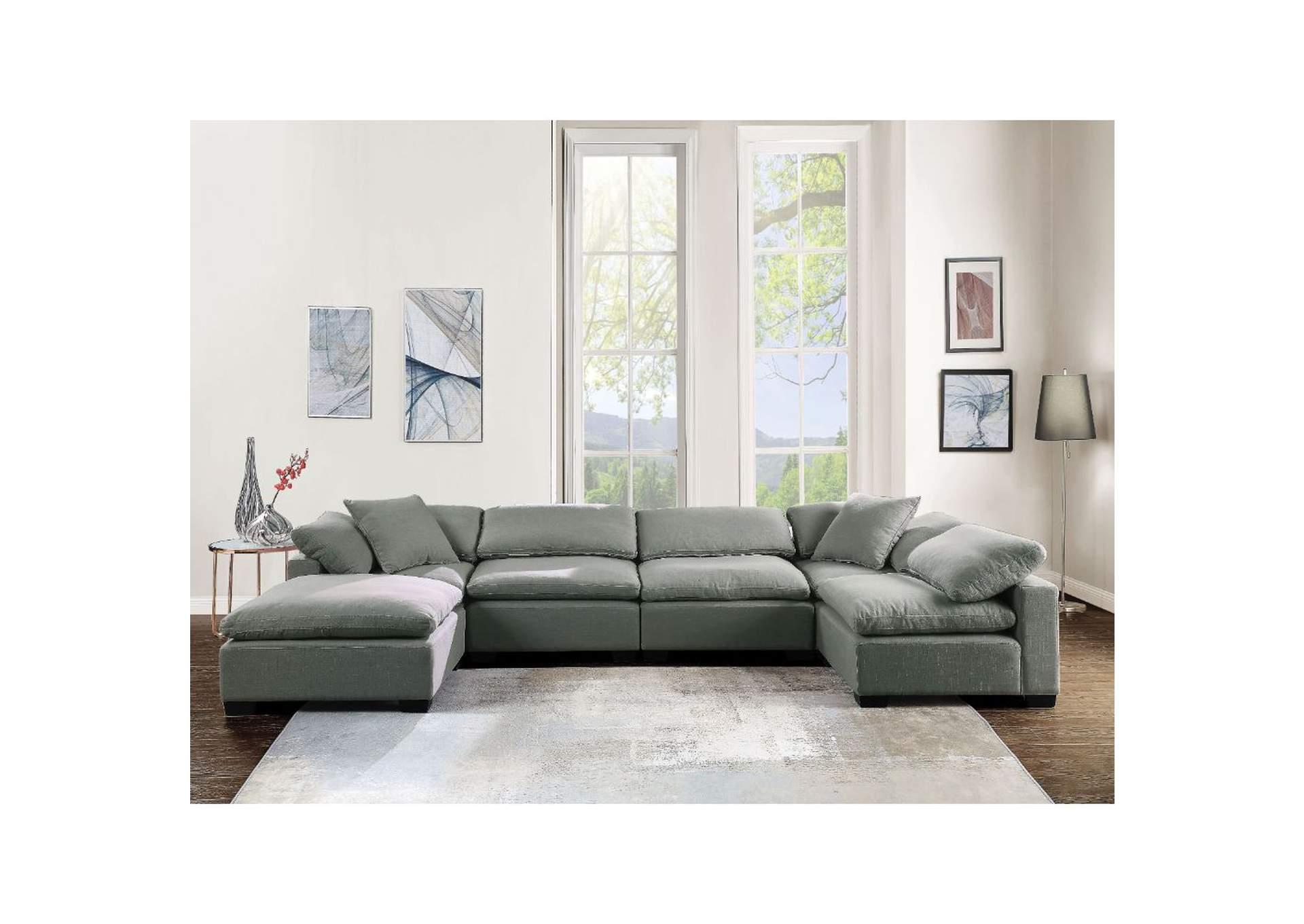 Best Buy Furniture And Mattress Kerry Gray Ottoman
