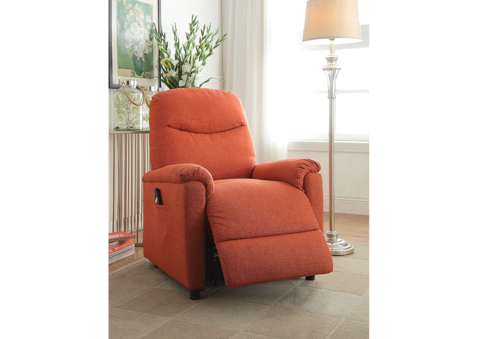 Enjoyable 5Th Avenue Furniture Mi Catina Orange Power Lift Recliner Onthecornerstone Fun Painted Chair Ideas Images Onthecornerstoneorg
