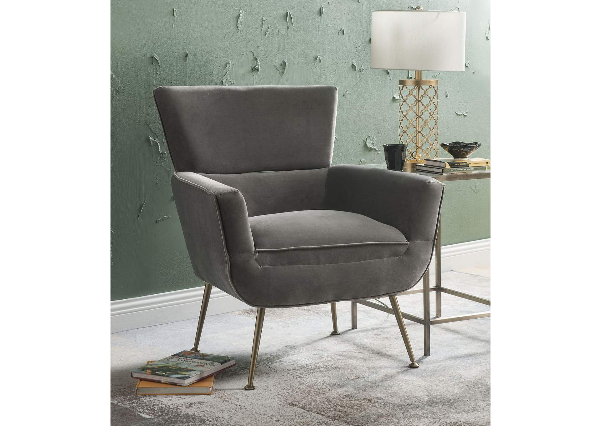 Phenomenal Charisma Furniture Varik Gray Accent Chair Creativecarmelina Interior Chair Design Creativecarmelinacom