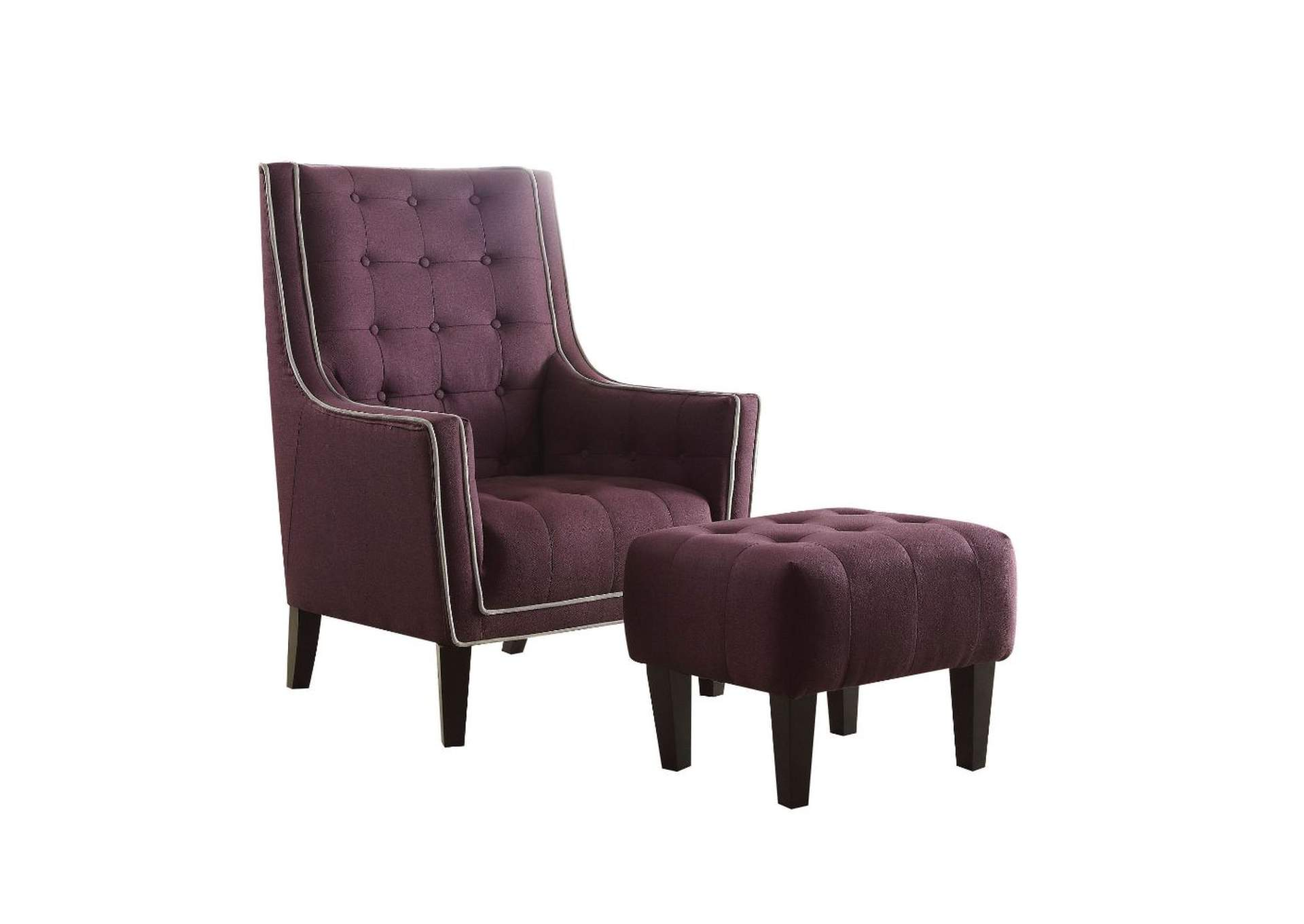 Marvelous Furniture Mattress Outlet Ophelia Purple Chair And Ottoman Beatyapartments Chair Design Images Beatyapartmentscom
