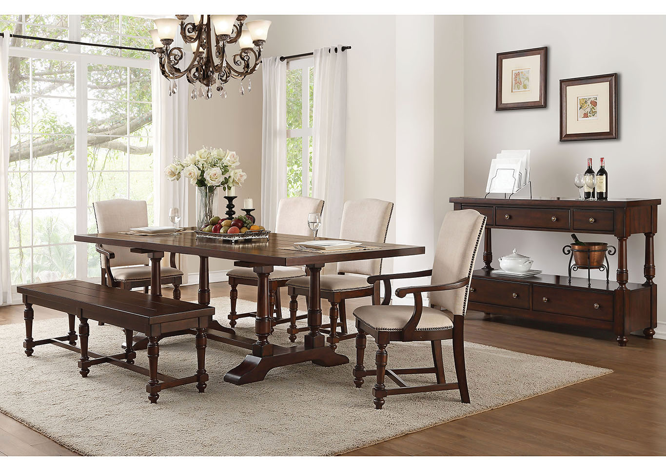 Strange Gorees Furniture Opelika Al Tanner Cherry Dining Table W Gmtry Best Dining Table And Chair Ideas Images Gmtryco