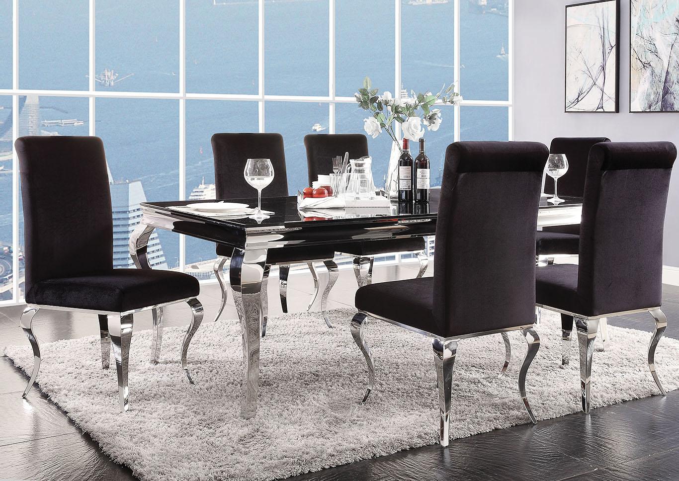 Goree\'s Furniture - Opelika, AL Fabiola Black Glass ...