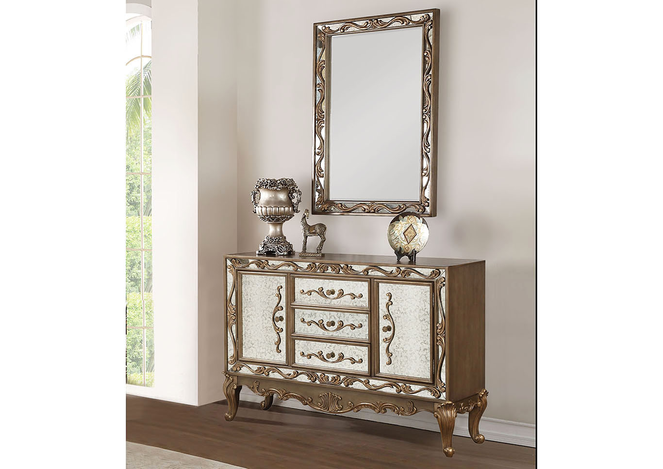 Orianne Antique Gold Buffet,Acme