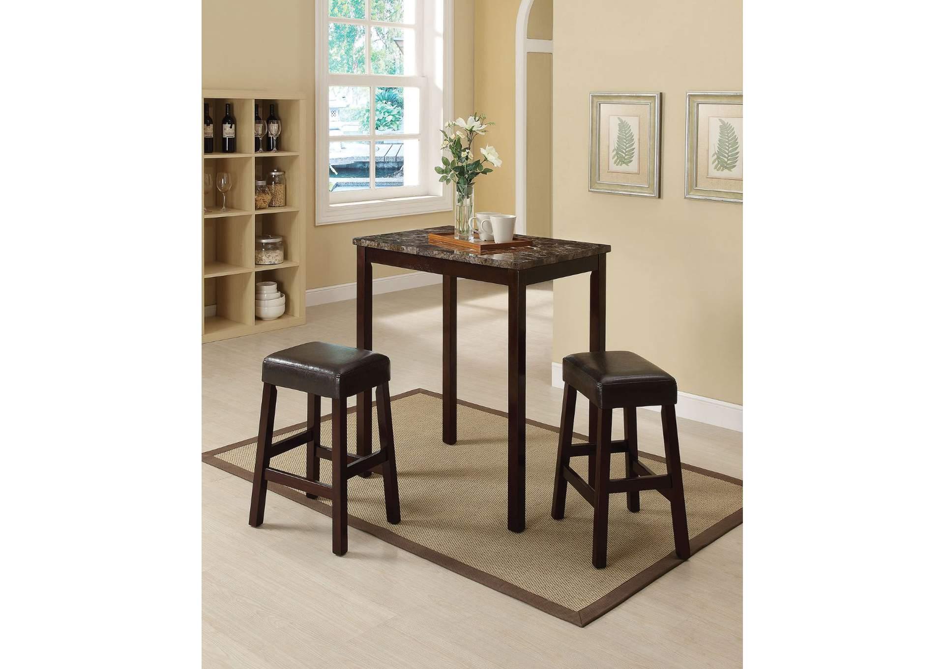 Superb Ace Furniture And Decor Idris Faux Marble Espresso Ibusinesslaw Wood Chair Design Ideas Ibusinesslaworg