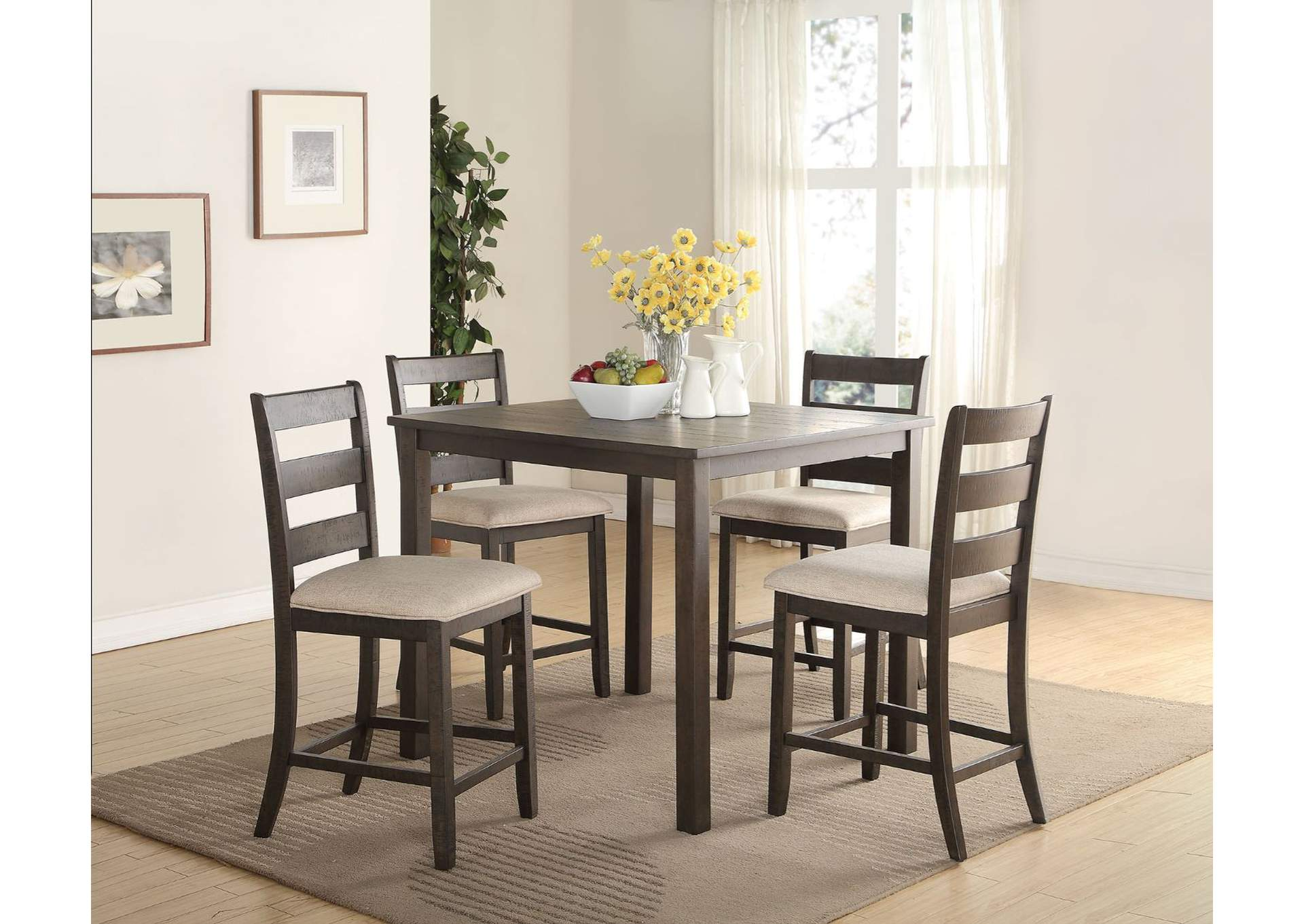Salileo 5 Piece Counter Height Dining Set,Acme