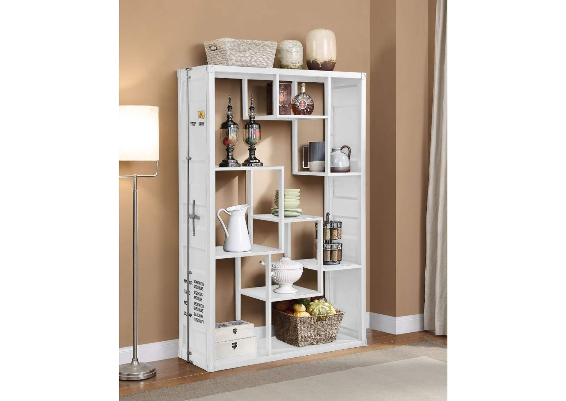 Cargo White Shelf Rack/Book Shelf,Acme