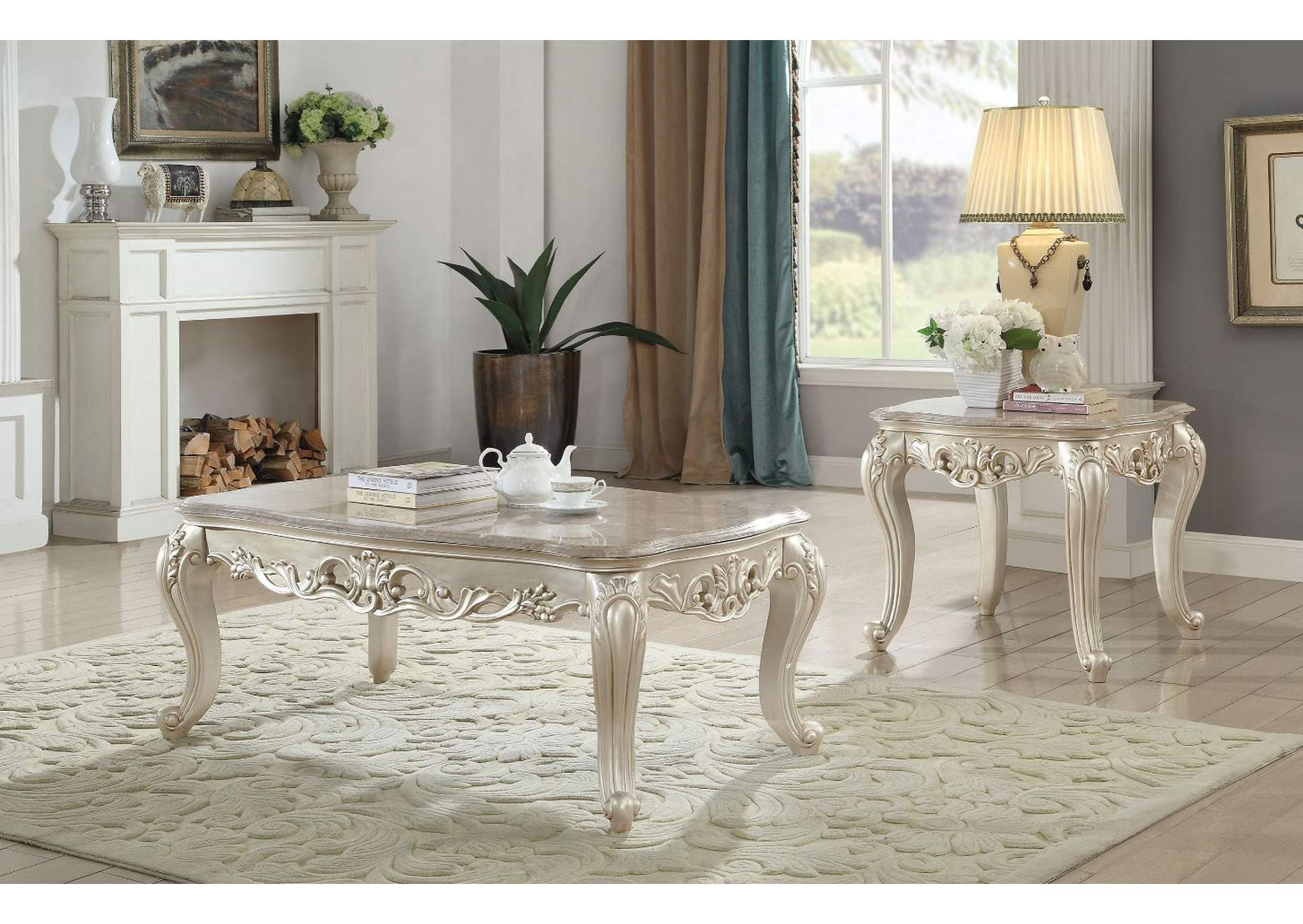 Best Buy Furniture and Mattress Gorsedd Antique White End Table
