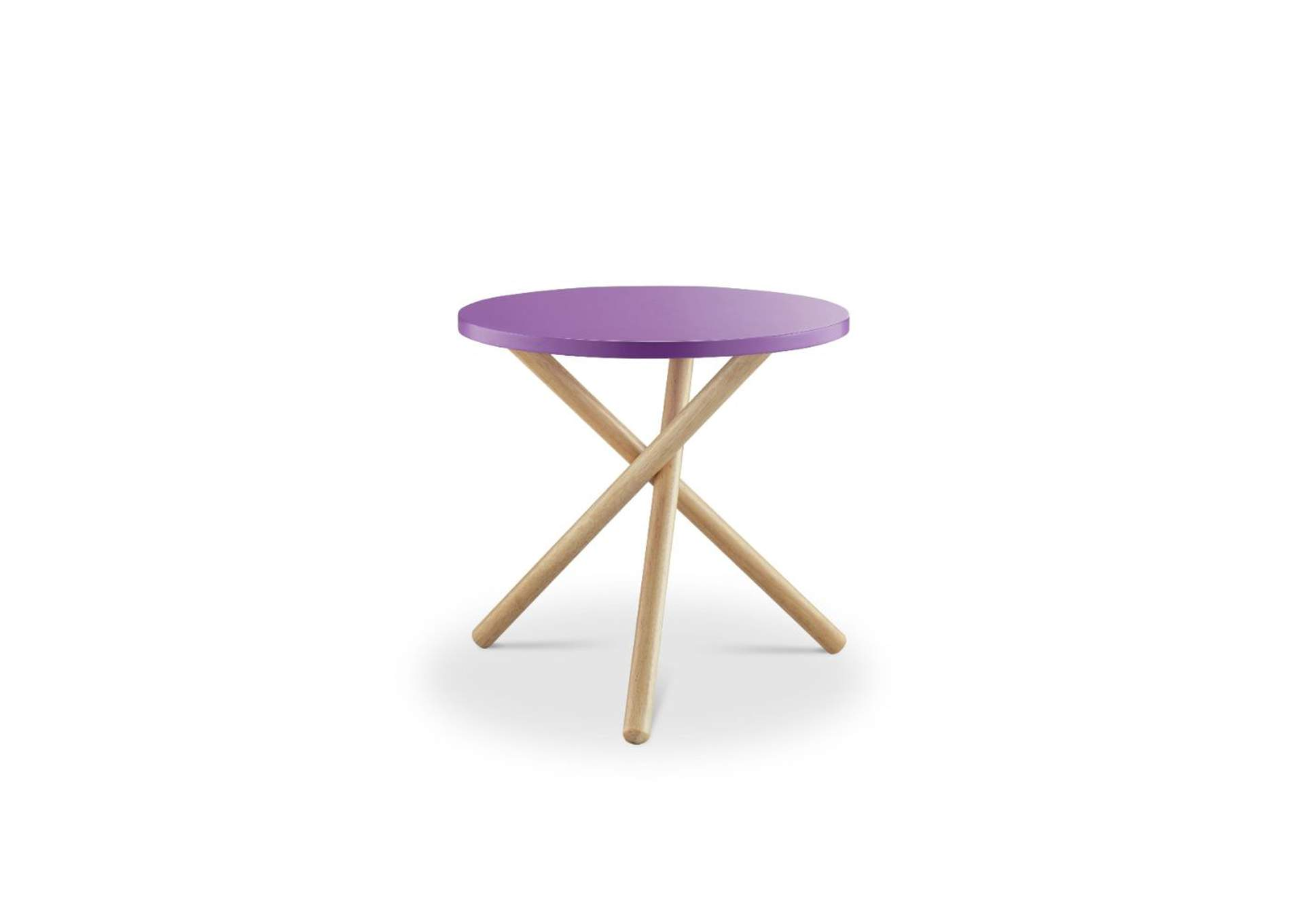 Lanica Purple/Natural End Table,Acme