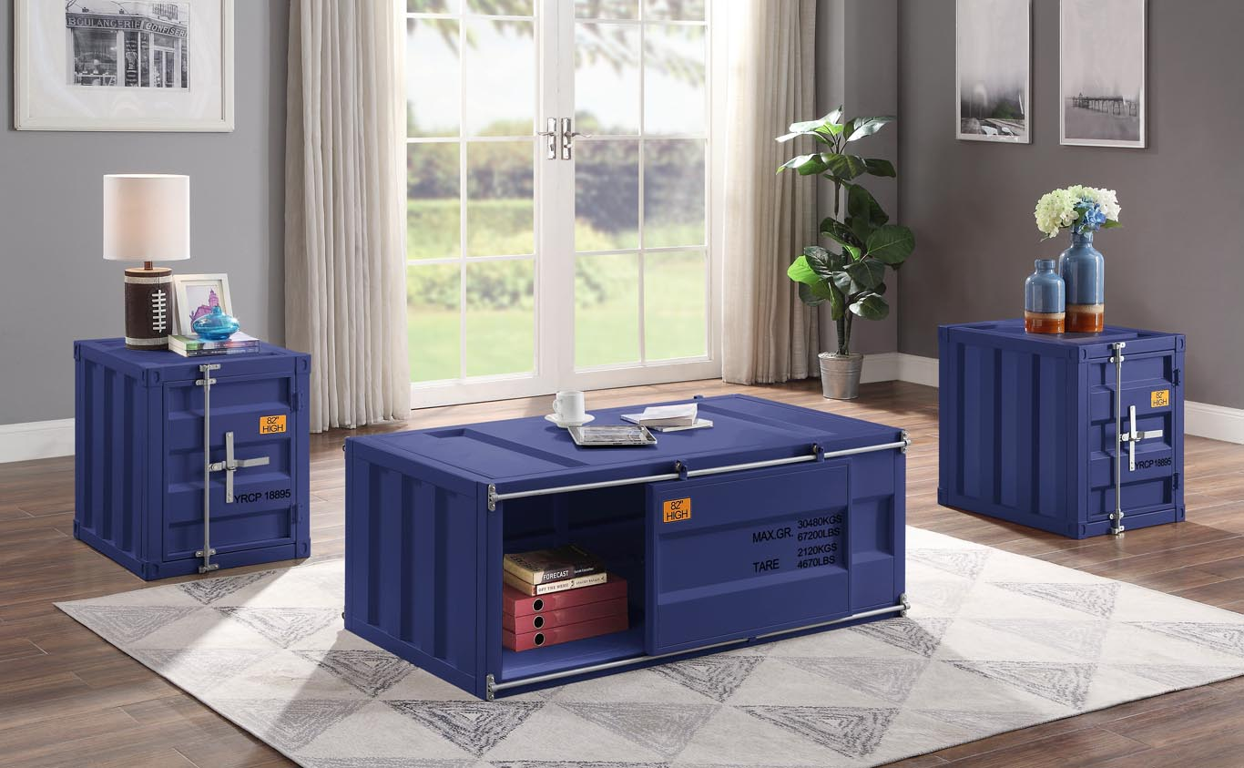 Cargo Blue End Table,Acme