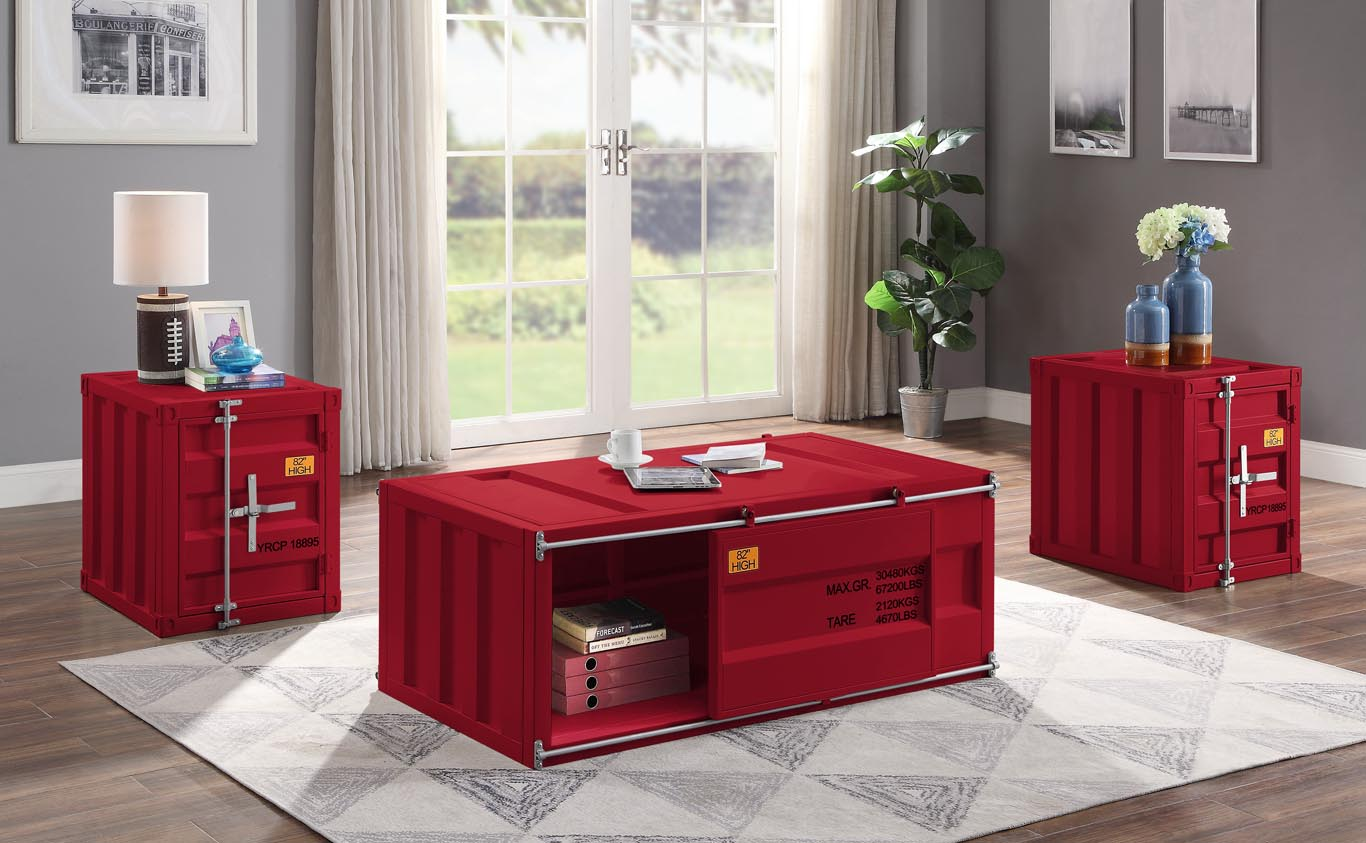 Cargo Red Coffee Table,Acme