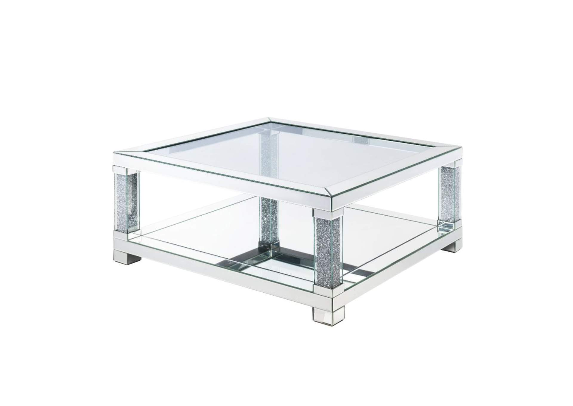 Noralie Mirrored End Table,Acme