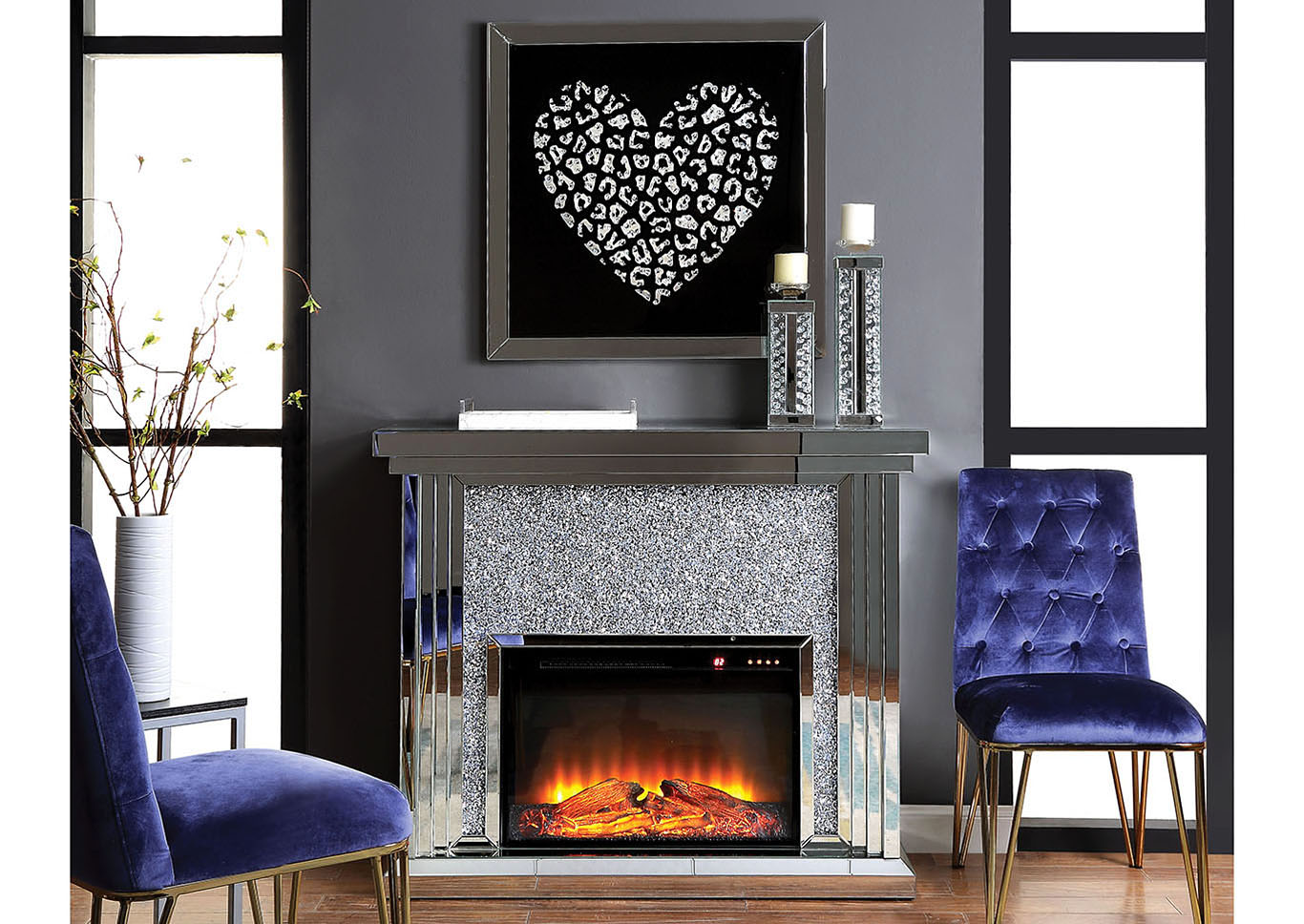 Noralie Fireplace,Acme