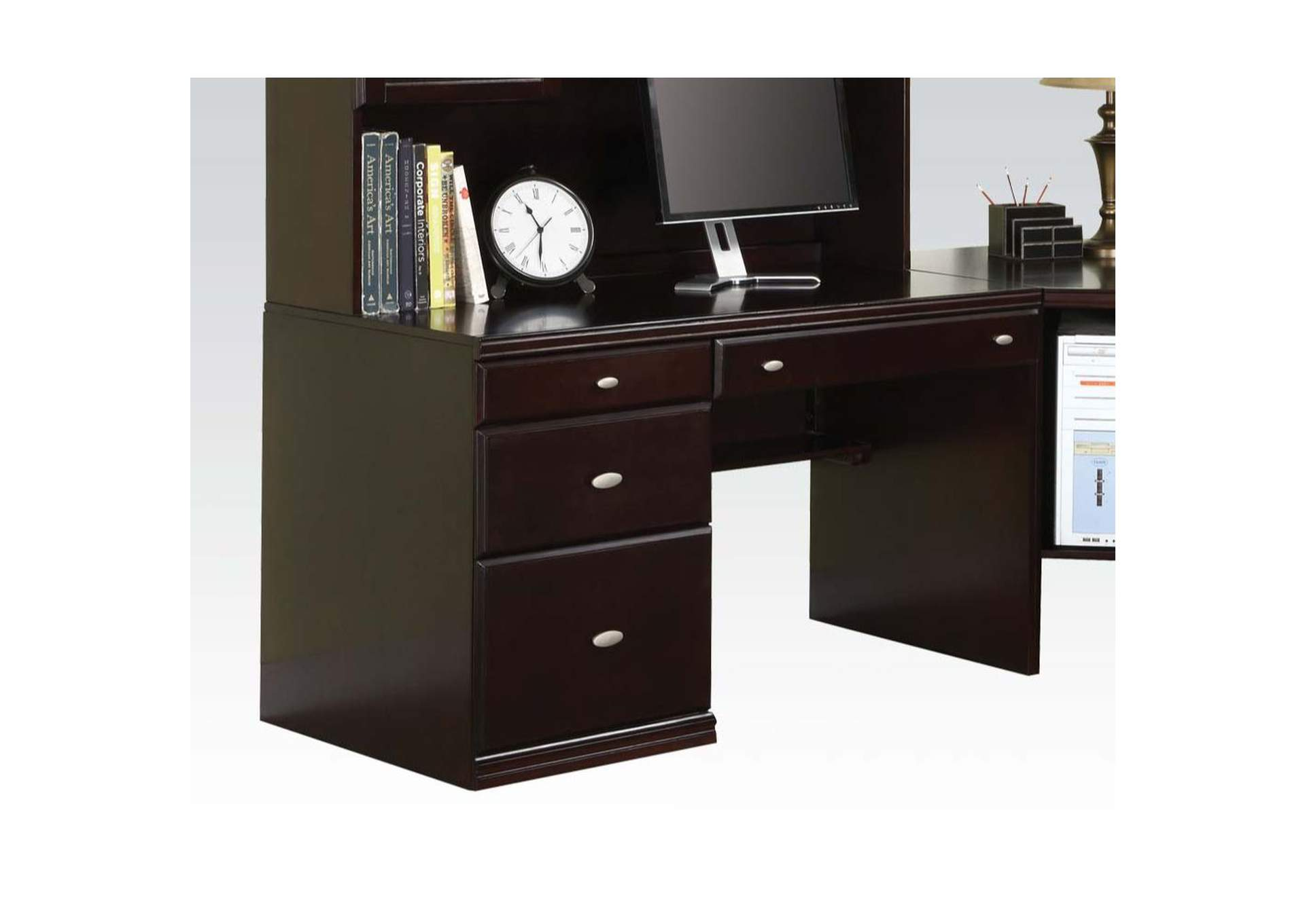 Cape Espresso Corner Desk,Acme