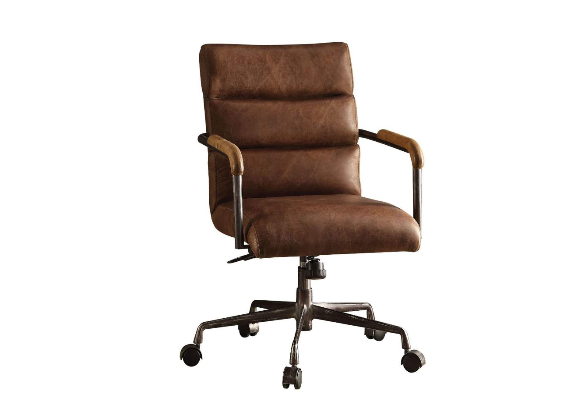 Harith Retro Brown Office Chair Sweet Home Furniture By Niposul