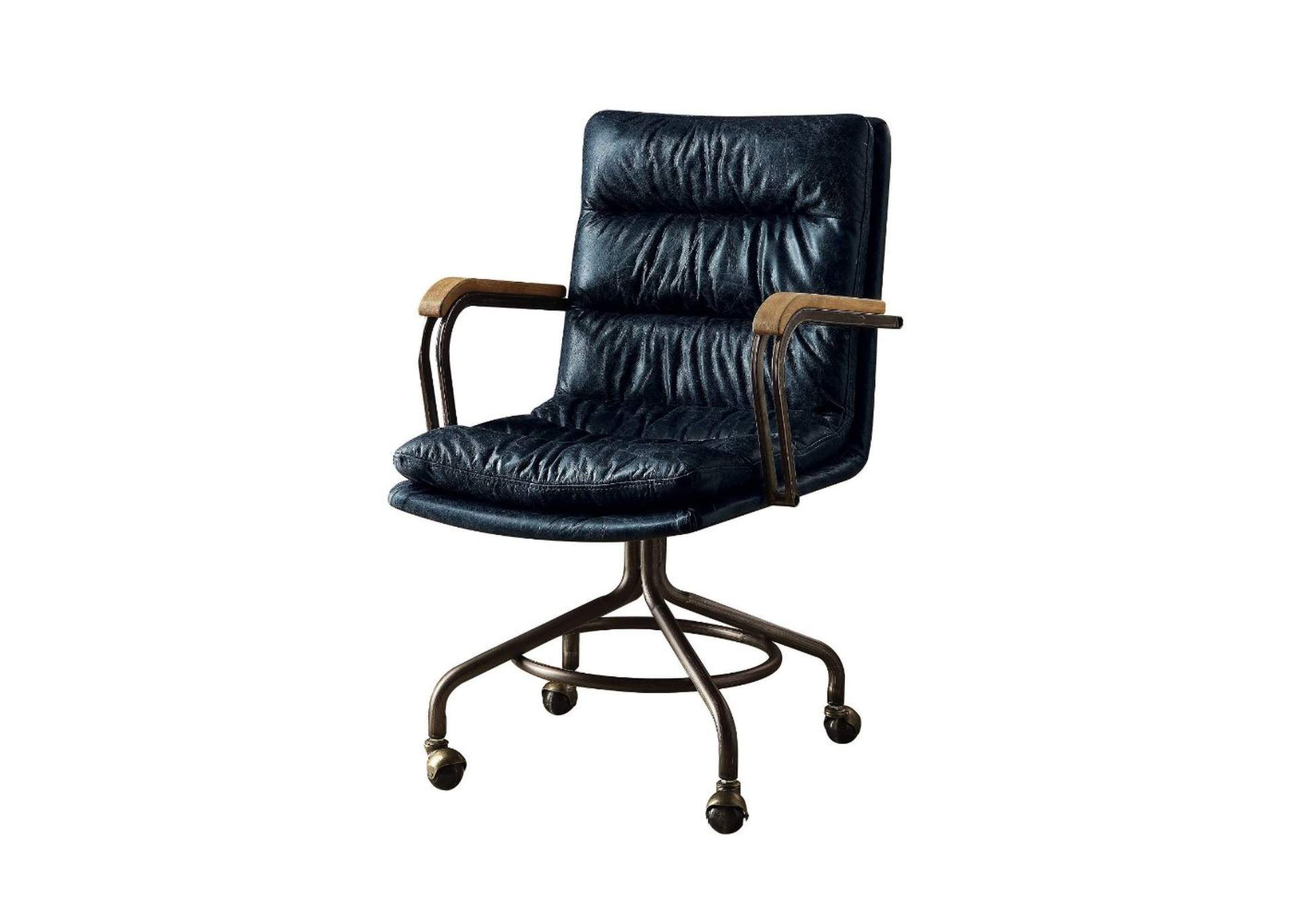 Miraculous Best Buy Furniture And Mattress Harith Blue Leather Office Chair Best Image Libraries Counlowcountryjoecom