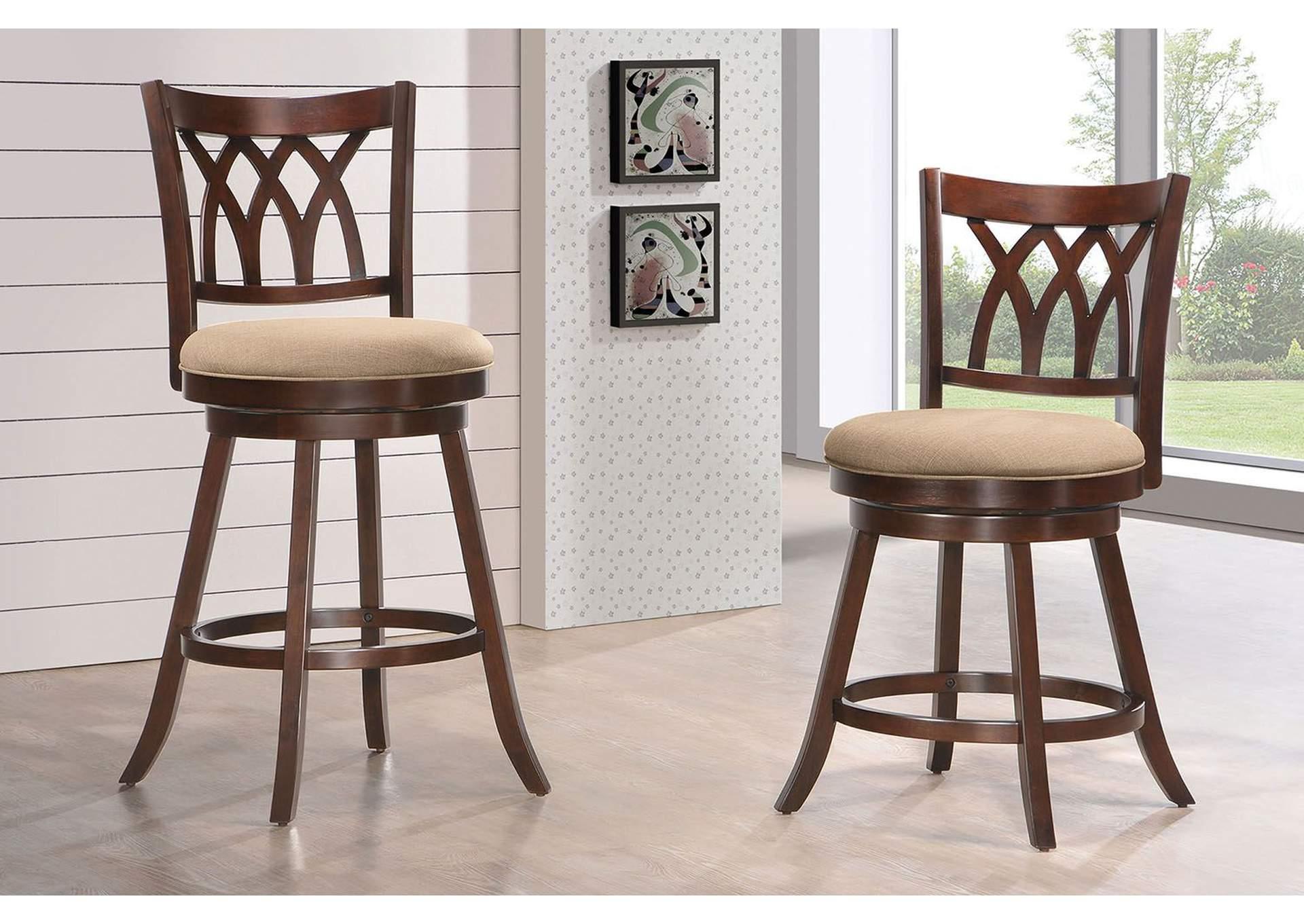 Tabib Fabric U0026 Espresso Counter Height Chair W/Swivel,Acme