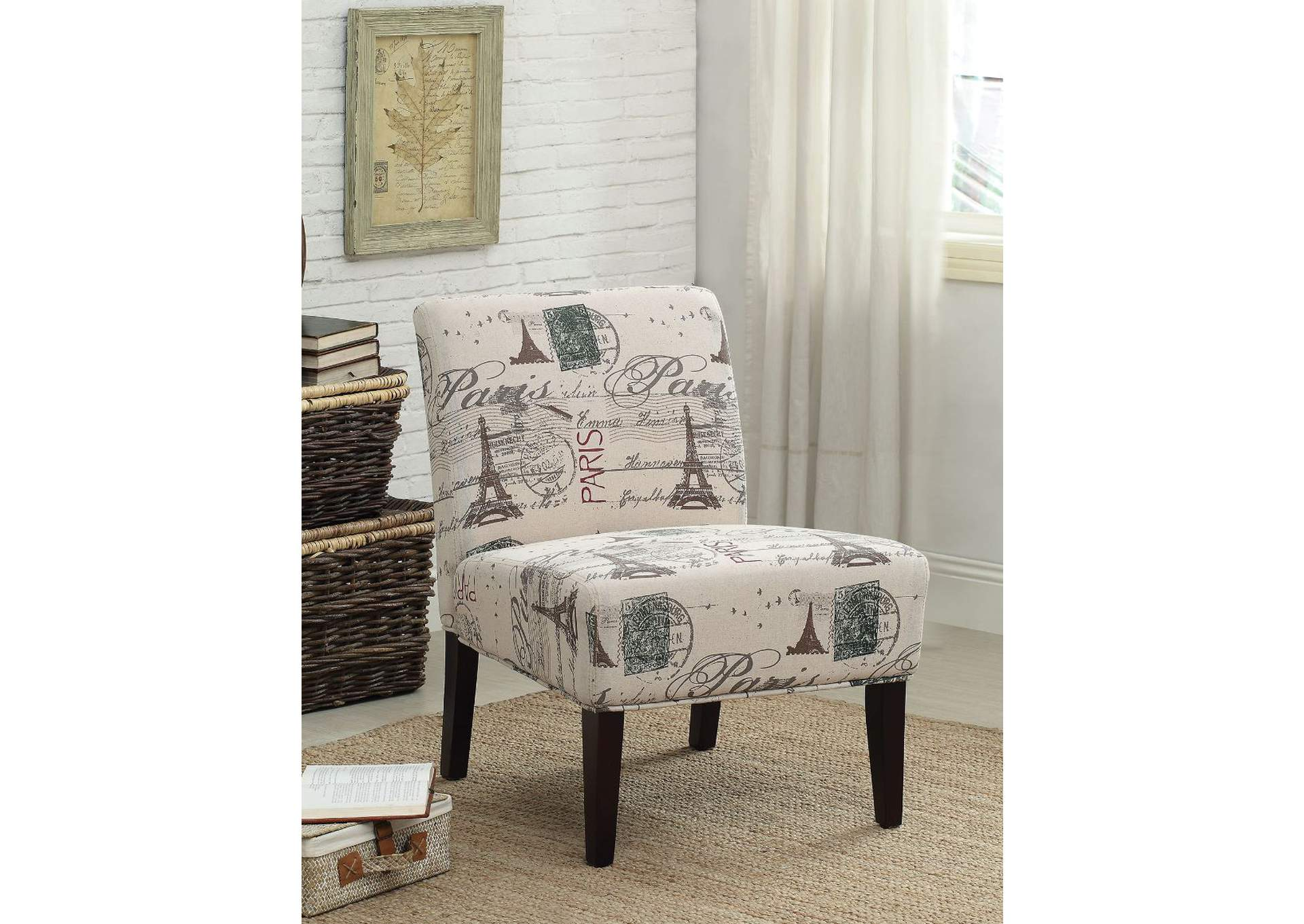 Reece Fabric & Espresso Accent Chair,Acme