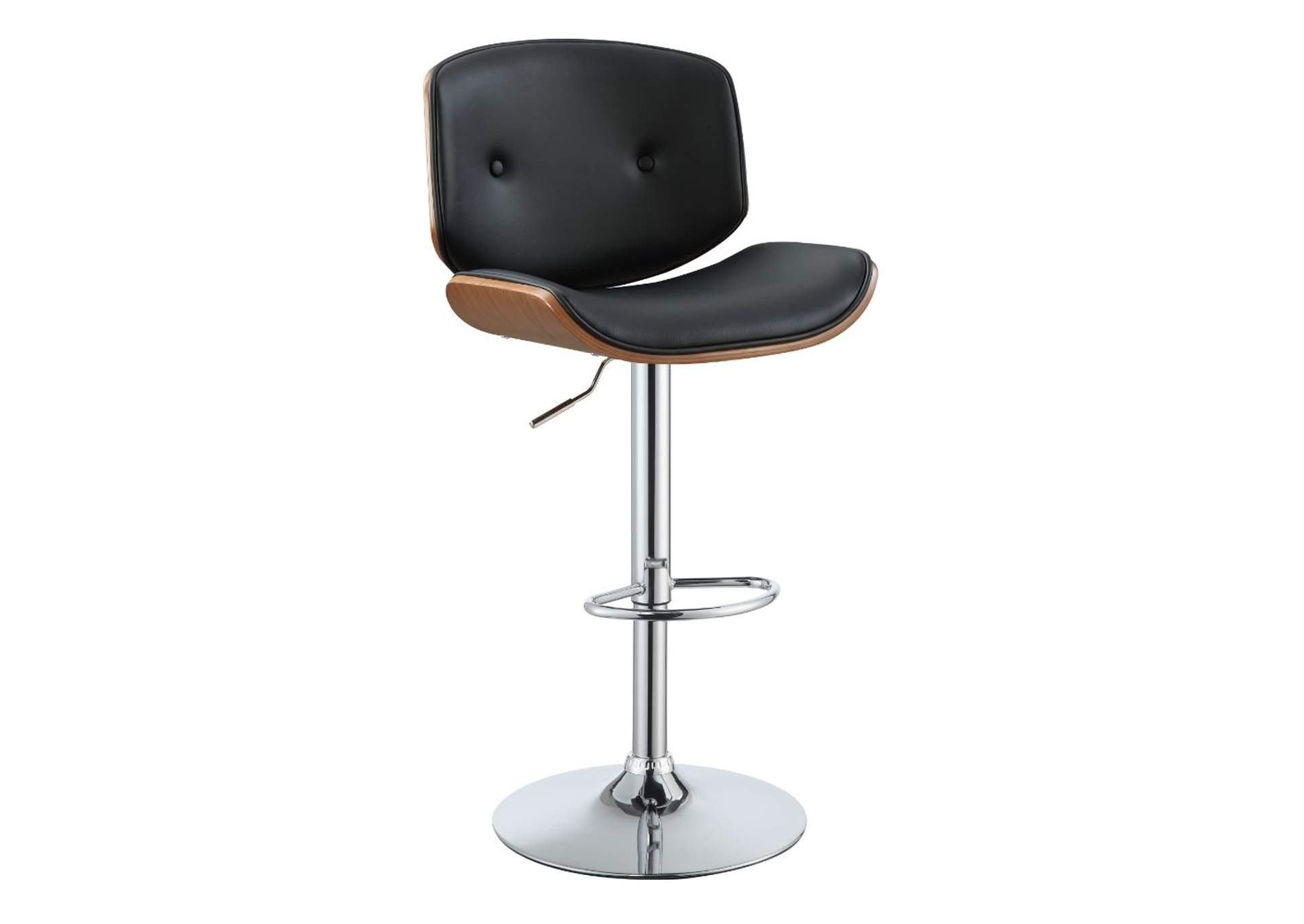 Camila Black Leather Backed Adjustable Stool w/Divets,Acme