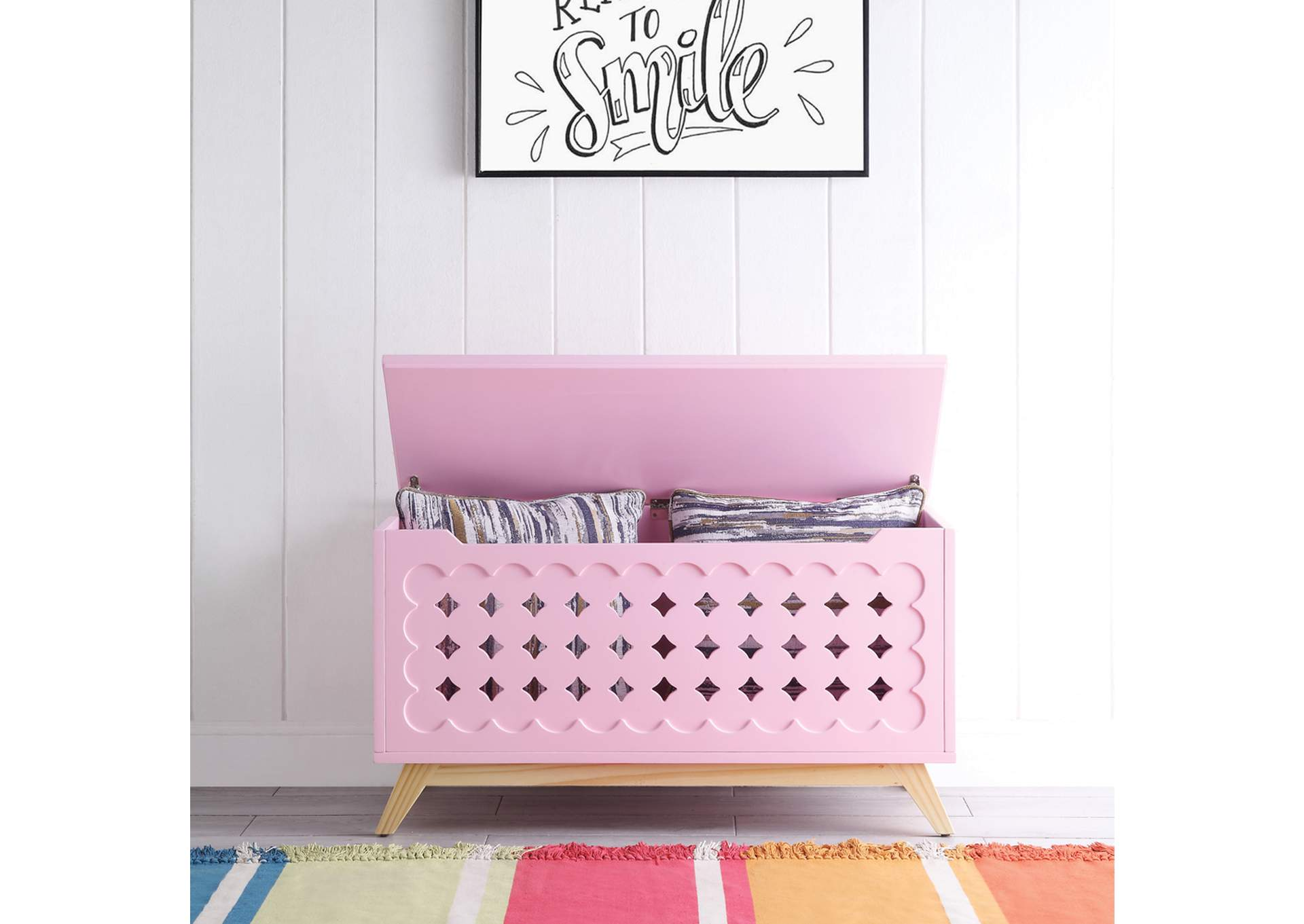 Doll Cottage Pink/Natural Youth Chest,Acme