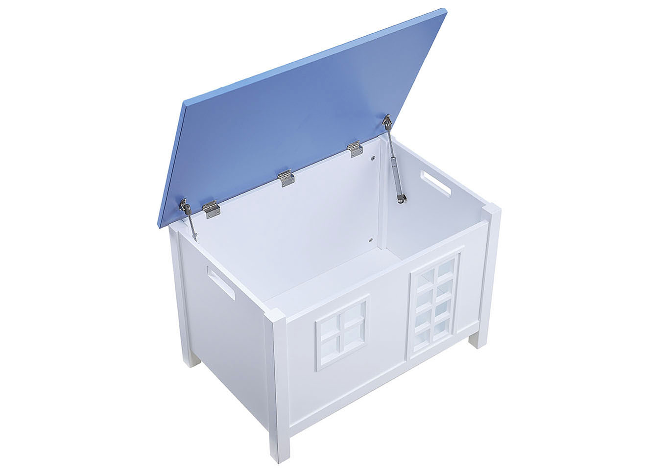 Doll Cottage White/Blue Youth Chest,Acme