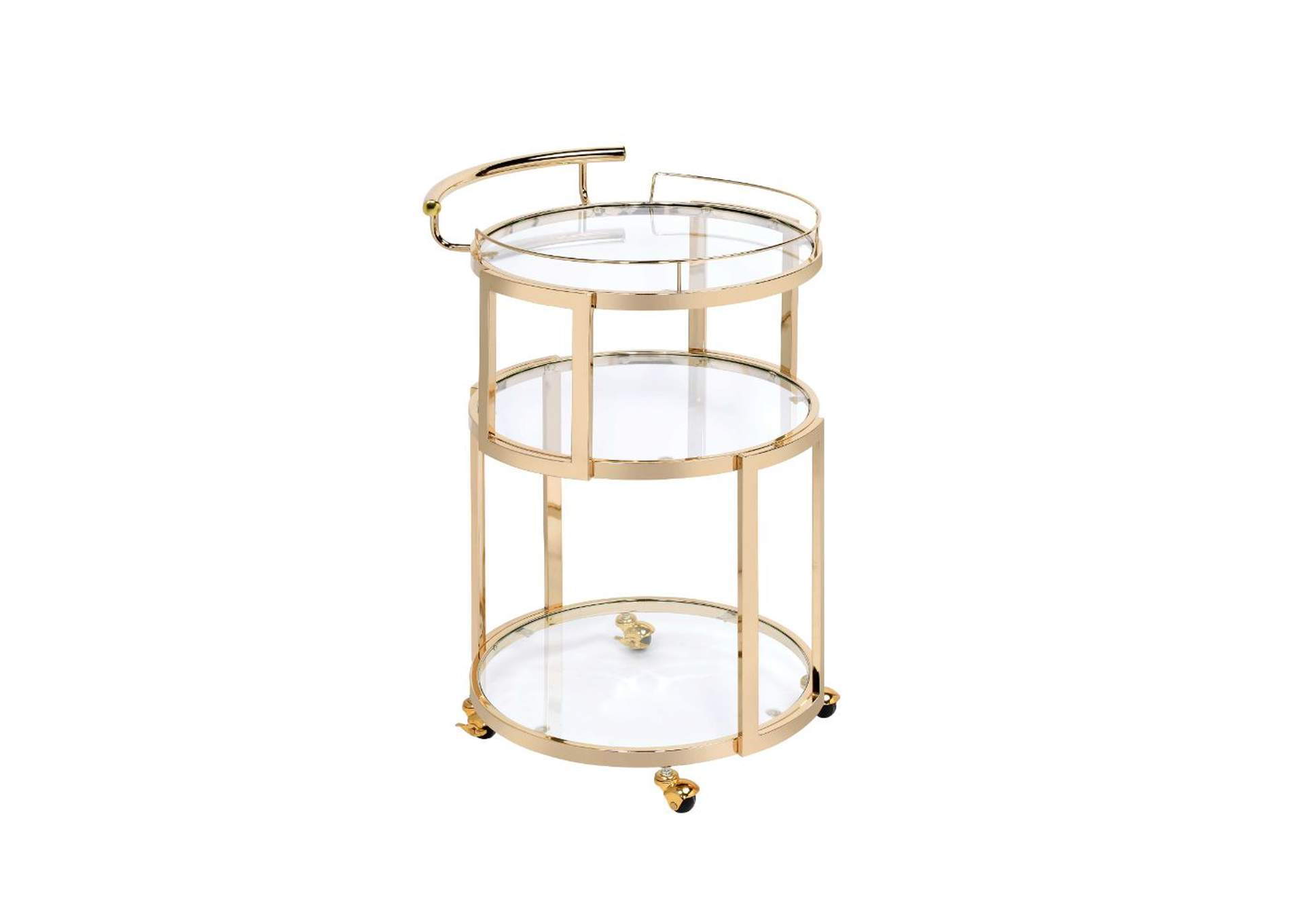 Madelina Gold Serving Cart,Acme