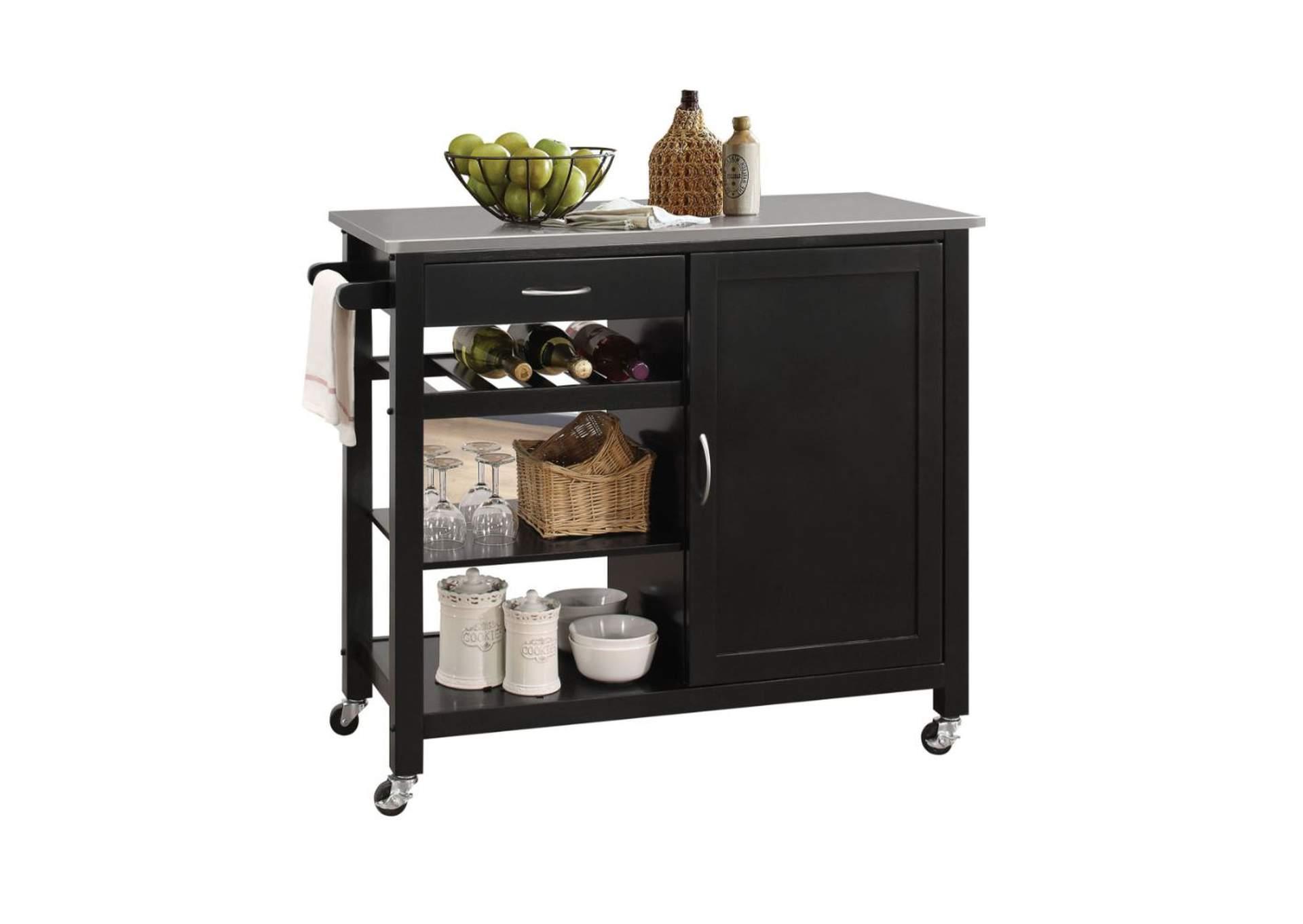 Goree\'s Furniture - Opelika, AL Ottawa Stainless Steel/Black ...