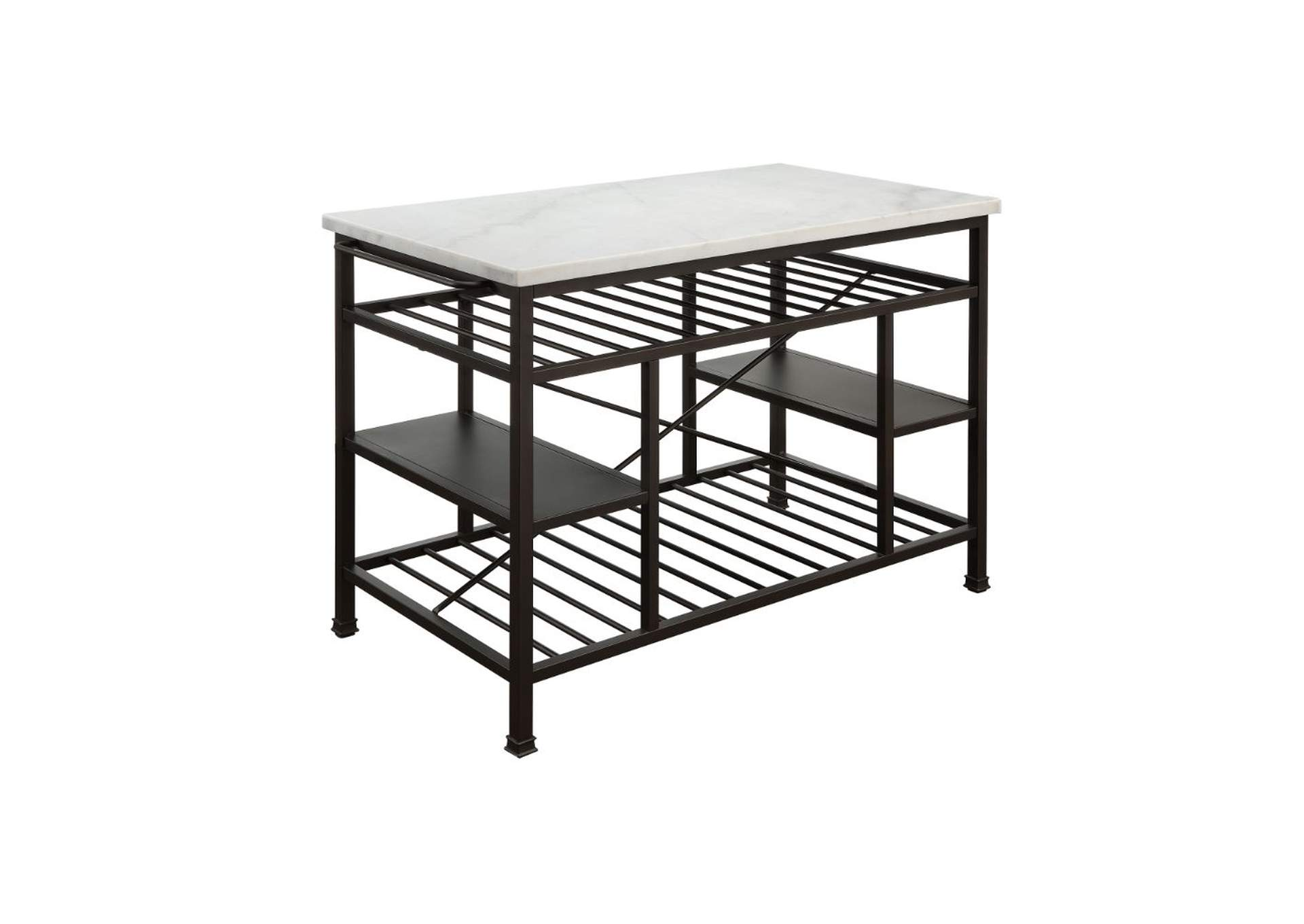 Goree\'s Furniture - Opelika, AL Lanzo Black Kitchen Island