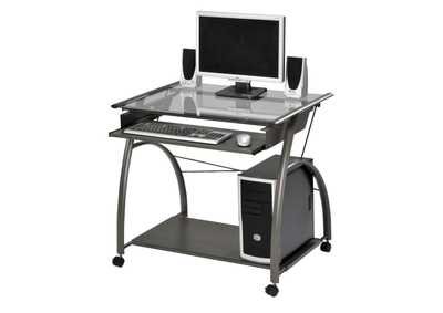 Image for Vincent Pewter Computer Desk