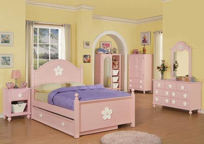 Image for Floresville Pink/White Flower Dresser