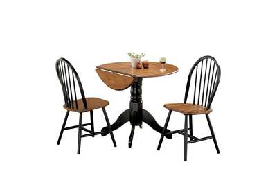 Mason Cherry and Black 3 Piece Dining Set