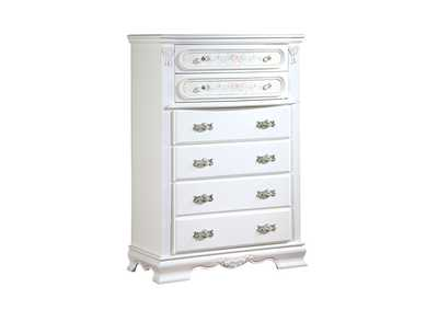Flora White Drawer Chest